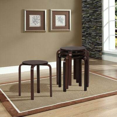"Girardi Short Stacking 18"" Bar Stool Finish: Wenge"