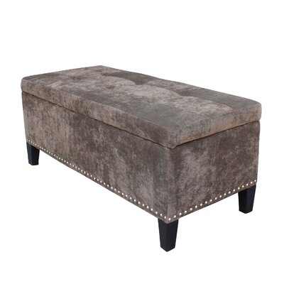 Hudgens Upholstered Storage Bench Upholstery: Chocolate