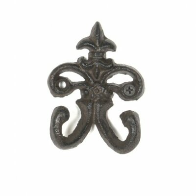 Lockett Cast Iron Double Coat Hook Color: Black