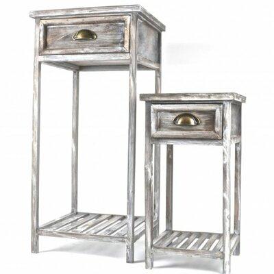 Flemington 2 Piece Wooden Telephone Table Set