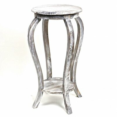 Glenfield Wooden Plant Stand Color: Gray