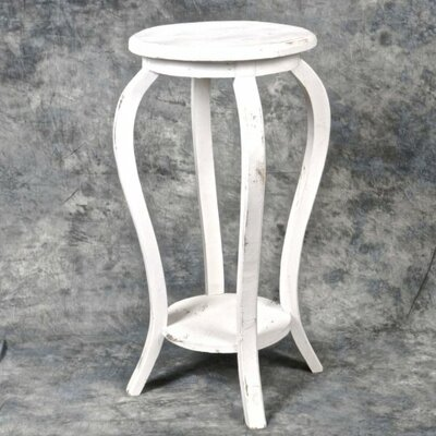 Glenfield Wooden Plant Stand Color: White