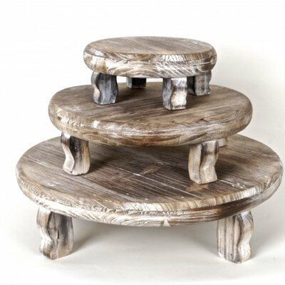 Maywood 3 Piece Wooden Plant Stand Set