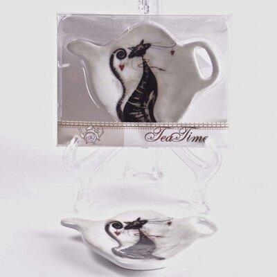 Porcelain Tea Bag Holders in Cat Gift Box