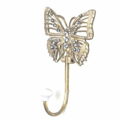 jije Metal Butterfly Wall Hook