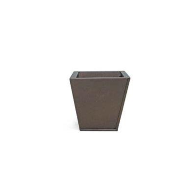 """Goshorn Square Metal Pot Planter Size: 7.5"""" H x 7.5"""" W x 7.5"""" D, Color: Java Brown"""