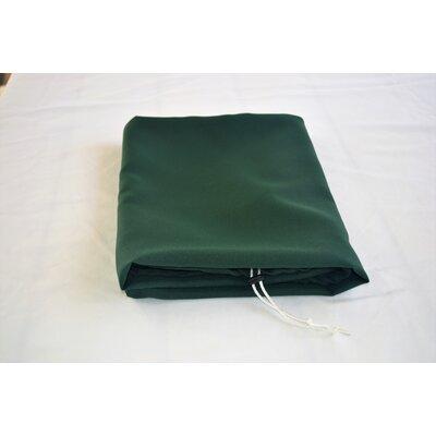 "Tablecloth Size: 72"" W x 36"" L, Color: Hunter Green"