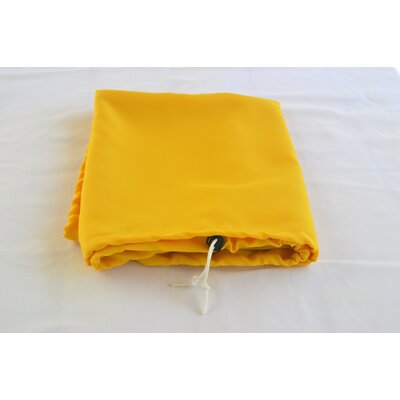 "Tablecloth Size: 72"" W x 36"" L, Color: Mango"