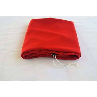 """Tablecloth Size: 72"""" W x 30"""" L, Color: Red"""