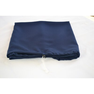 "Tablecloth Size: 72"" W x 36"" L, Color: Navy Blue"
