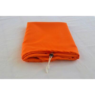 """Tablecloth Size: 72"""" W x 30"""" L, Color: Orange"""