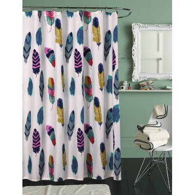 Guerra Shower Curtain Color: Blue/Pink