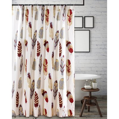 Guerra Shower Curtain Color: Red/Gray