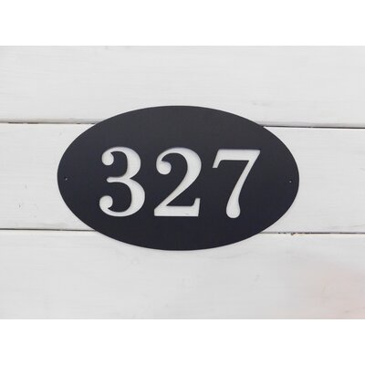 Oval 1-Line Wall Address Plaque