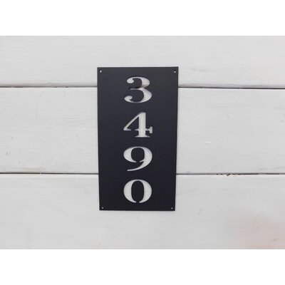 Rectangle 1-Line Wall Address Plaque