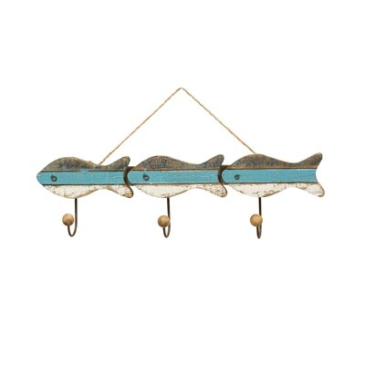 Altona Hanging Fish Wall Mounted Coat Rack