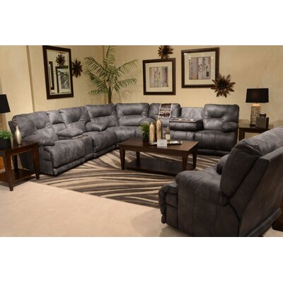 Voyager No Motion Recliner Body Fabric: Slate, Reclining Type: Power