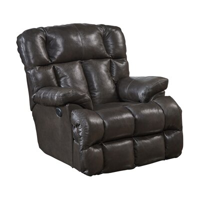 Victor Leather Rocker Recliner Body Fabric: Chocolate, Reclining Type: Power