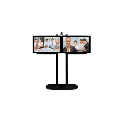 """B-tech Heavy Duty TV Stand for 42"""" Double Flat Panel Screens"""