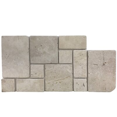 Tumbled Natural Stone Mosaic Tile in Walnut