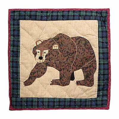 Patch Magic Cabin Bear Cotton Throw Pillow