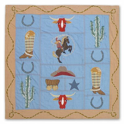 Patch Magic Cowgirl Cotton Shower Curtain