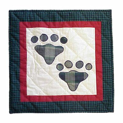 Patch Magic Fido Paw Cotton Throw Pillow