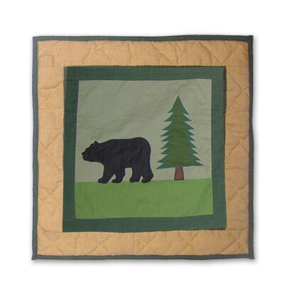 Patch Magic Lodge Fever Bear Cotton Throw Pillow
