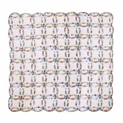Patch Magic Country Wedding Ring Luxury Quilt