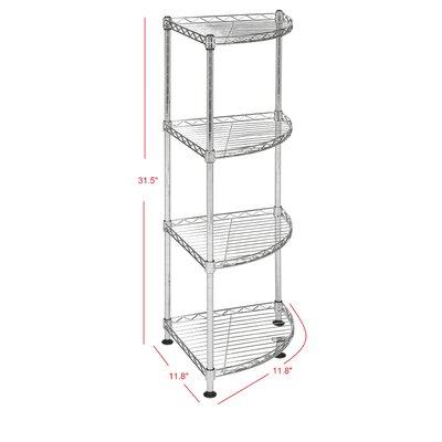 "Aleah 31.5"" H x 11.8"" W 4-Tier Corner Storage Rack"