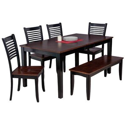 Downieville-Lawson-Dumont 6 Piece Wood Dining Set