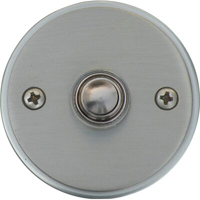 Circle Door Bell Surface Mount Pushbutton Finish: Satin Nickel