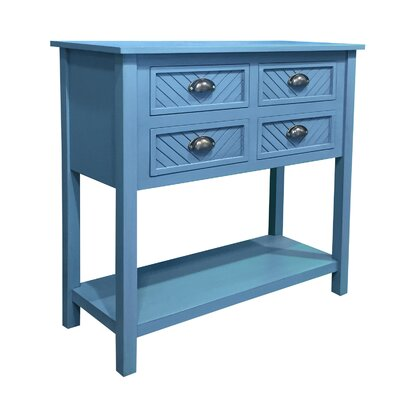 Pfeffer Wood 4 Drawer Accent Cabinet Color: Blue Cascade