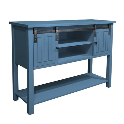 Pfeffer Console Table Color: Blue Cascade
