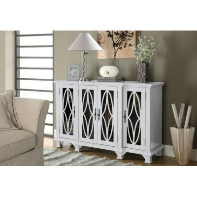 Collins 4 Door Accent Cabinet Color: White