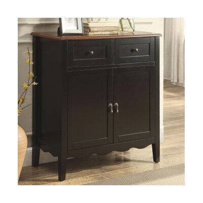 Binghampton 2 Door Accent Cabinet Color: Black