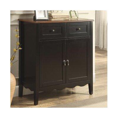 Binghampton 2 Door Accent Cabinet Color: Black