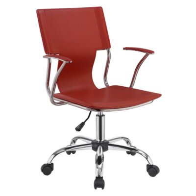 Downen Office Chair Color: Red