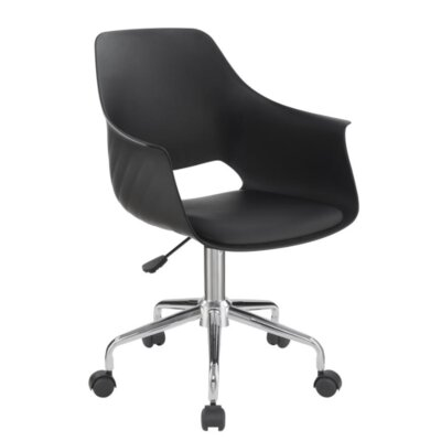 Downer Office Chair Color: Black