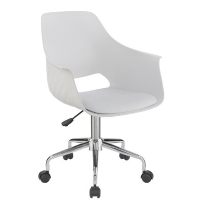 Downer Office Chair Color: White