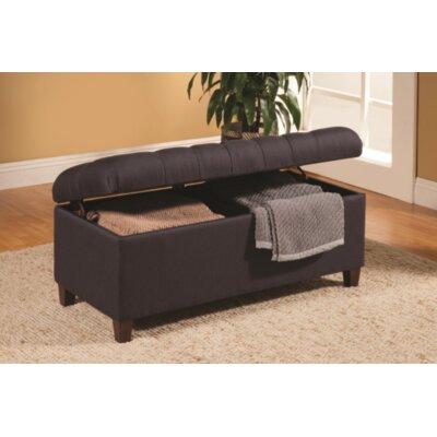 Locke Upholstered Storage Bench Upholstery: Dark Navy