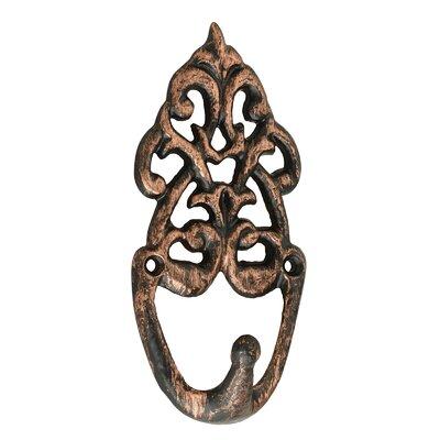 Griffieth Decorative Coat Wall Hook (Set of 6) Color: Copper