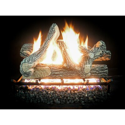 "Complete Match Light Great Oak Gas Natural Log Kit Size: 10"" H x 18"" W x 13"