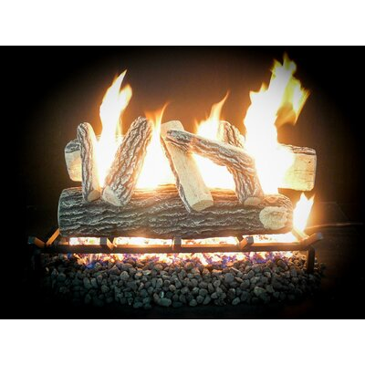 "Complete Match Light Grand Oak Natural Gas Log Kit Size: 10"" H x 18"" W x 13"