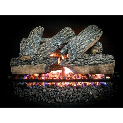 "Complete Match Light Blazing Oak Natural Gas Log Kit Size: 10"" H x 18"" W x 13"