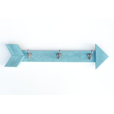 Ferrer Arrow Wall Mounted Coat Rack Color: Rich aqua