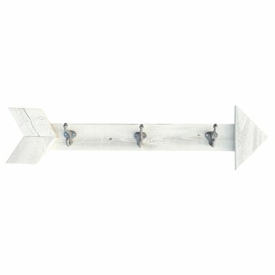 Ferrer Arrow Wall Mounted Coat Rack Color: Whitewash