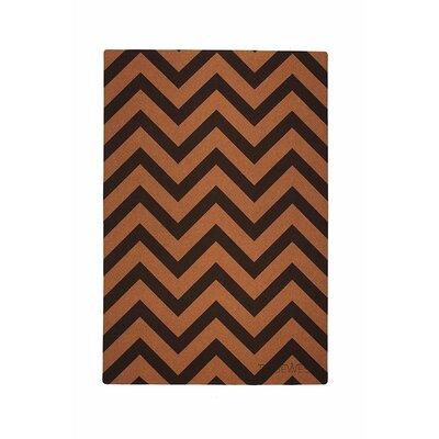 Chevron Floor Mat Color: Cork