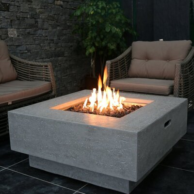 Manhattan Concrete Gas Fire Pit Table Fuel Type: Propane