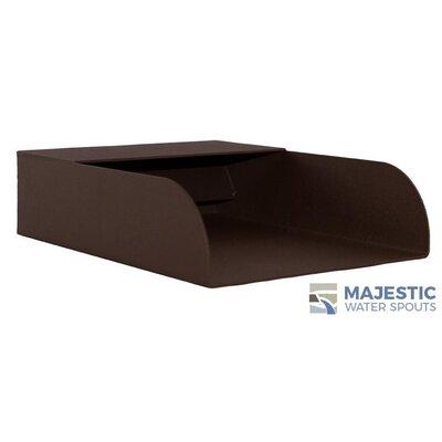 Mosegi Stainless Steel Rectangular Water Spout Finish: Brown
